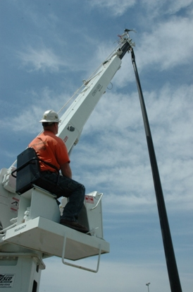 installation of the BHC wind turbine